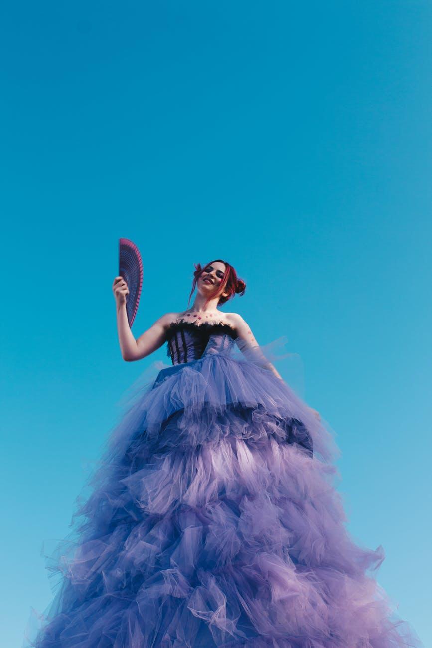 Woman in ballgown