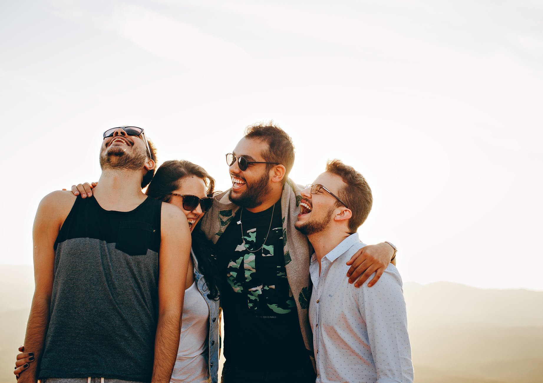 Group of people laughing