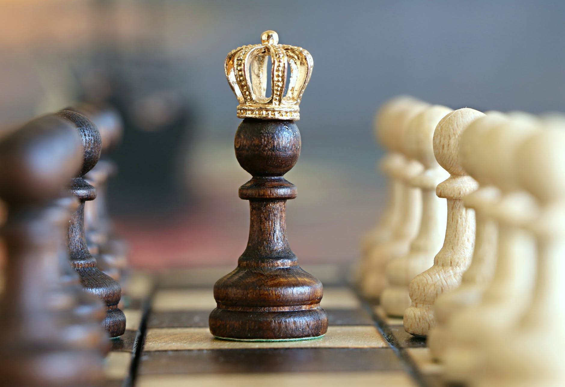 pawn with a crown