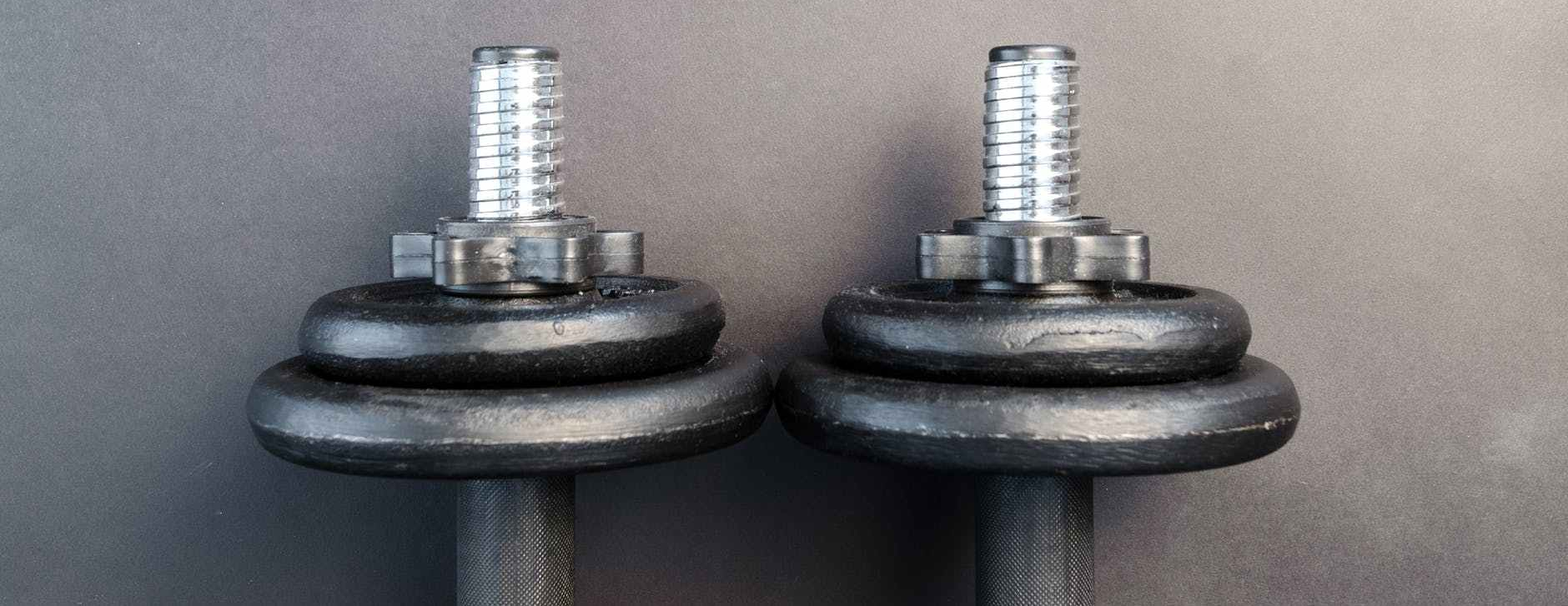 Photo by Lukas : top of two dumbells