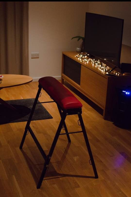 spanking bench and lights at little black book parties