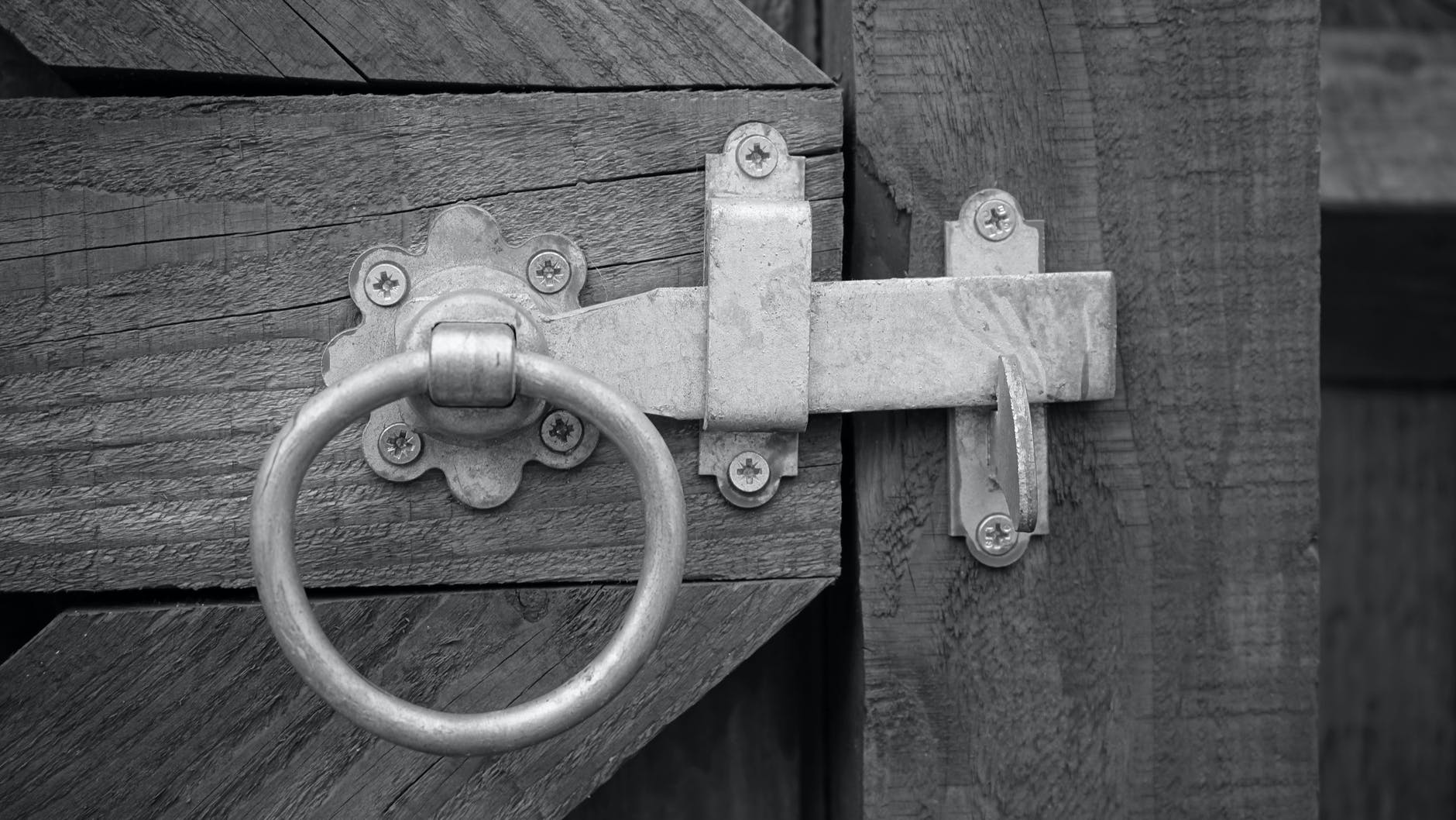 old fashioned door catch
