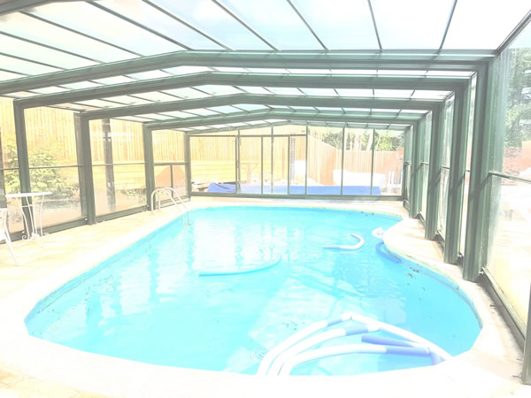 Swimming pool in the daytime at Pleasures in Kent